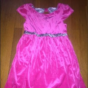 Girls size 10/12 pink velvet with silver accent
